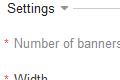 Banner settings in Admin Panel