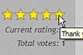 Rating stars bar after user ser rating