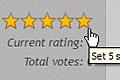 Rating stars bar before user ser rating